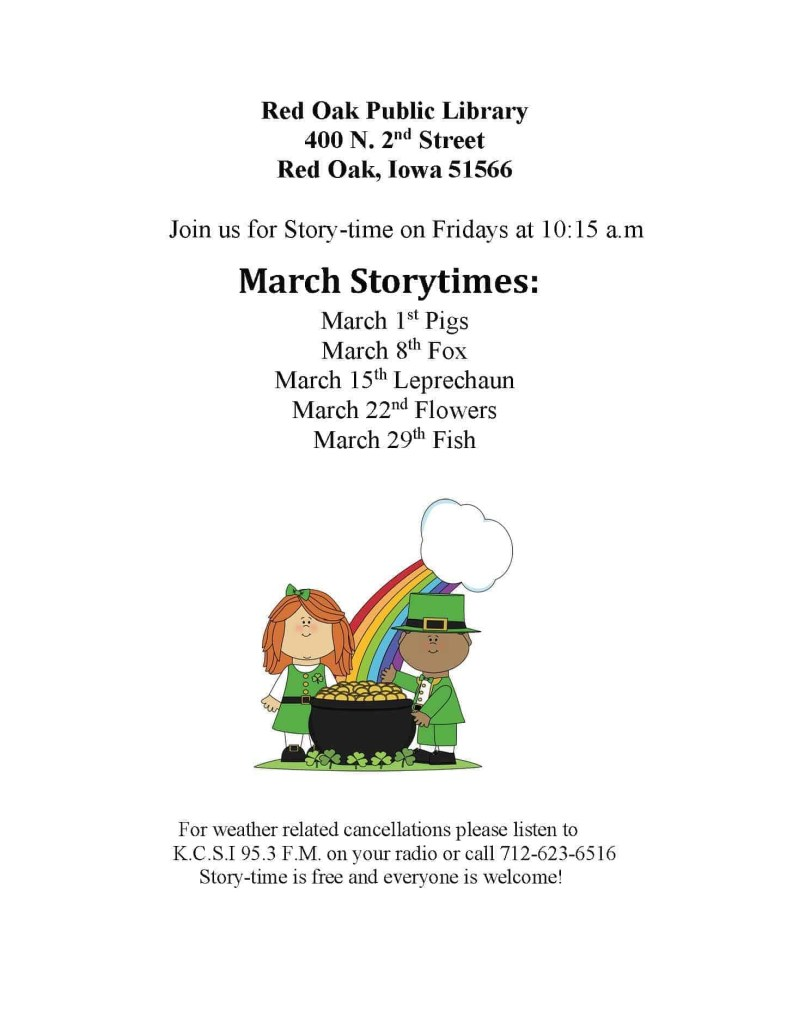 Red Oak Public Library Storytime
