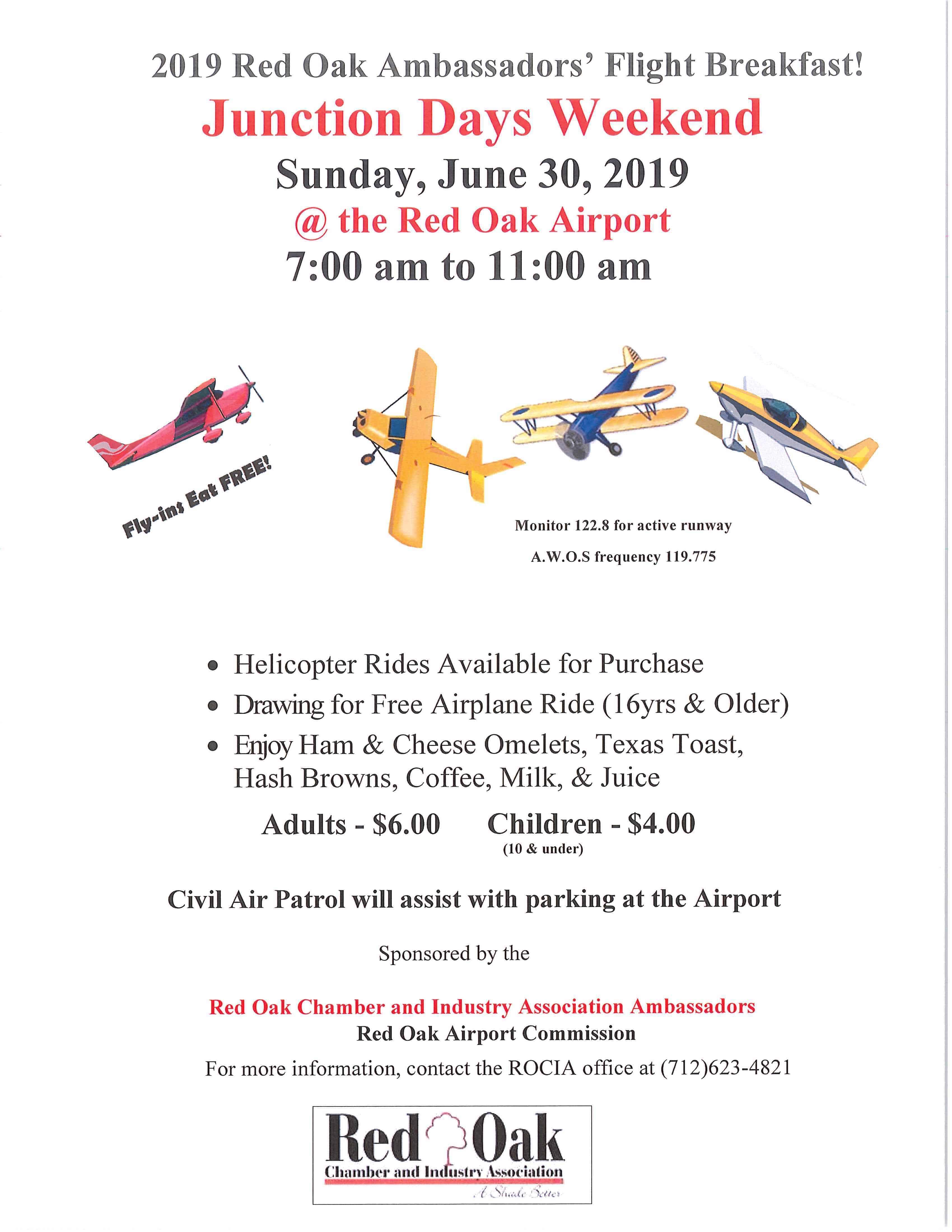2019 Red Oak Ambassadors Flight Breakfast Red Oak
