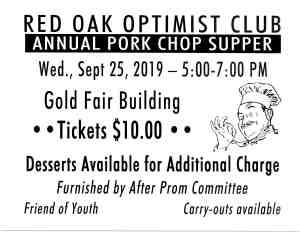 Optimist Pork Chop Supper