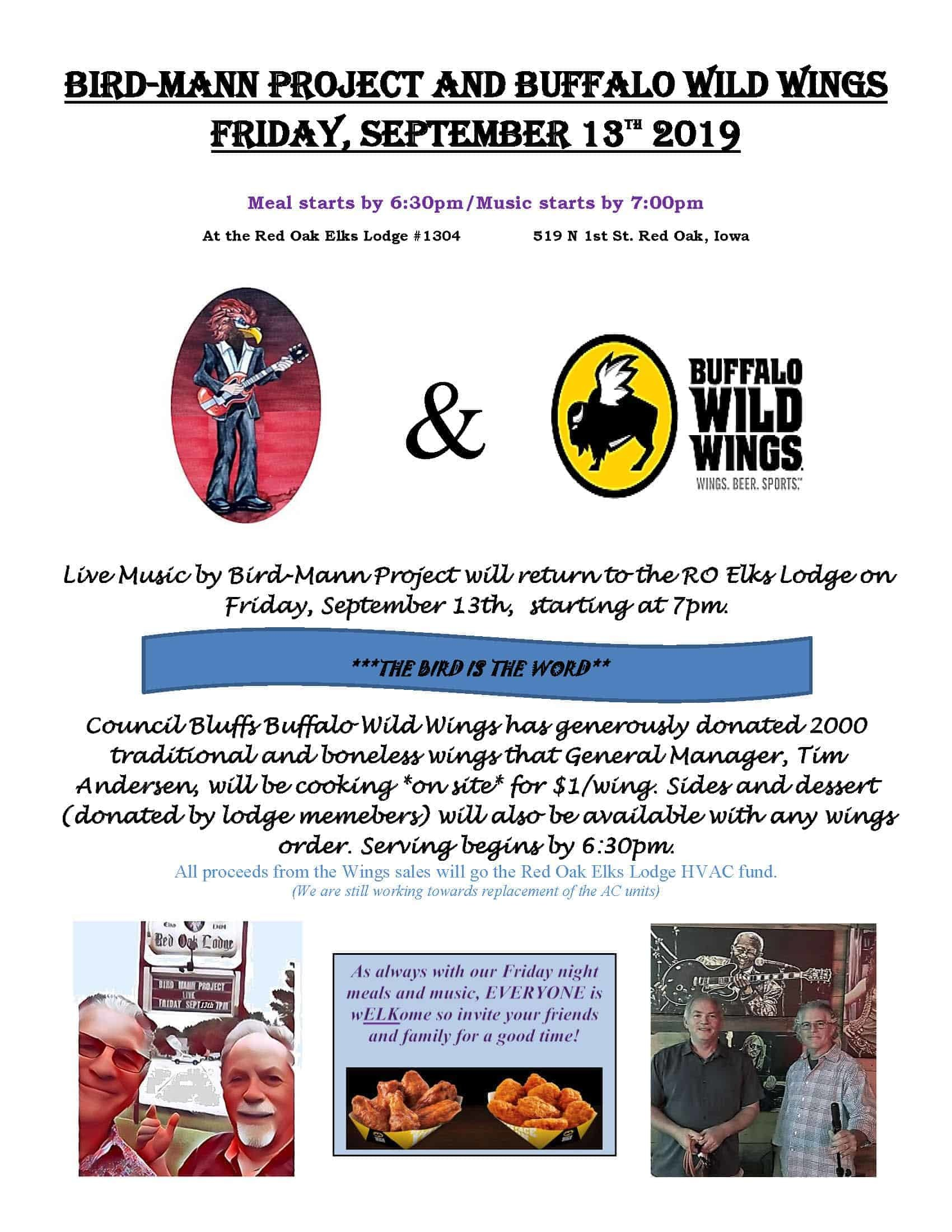 BIRD-MANN PROJECT AND BWW 9-13-19 FLYER