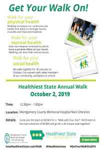 Healthiest State Walk at MCMH