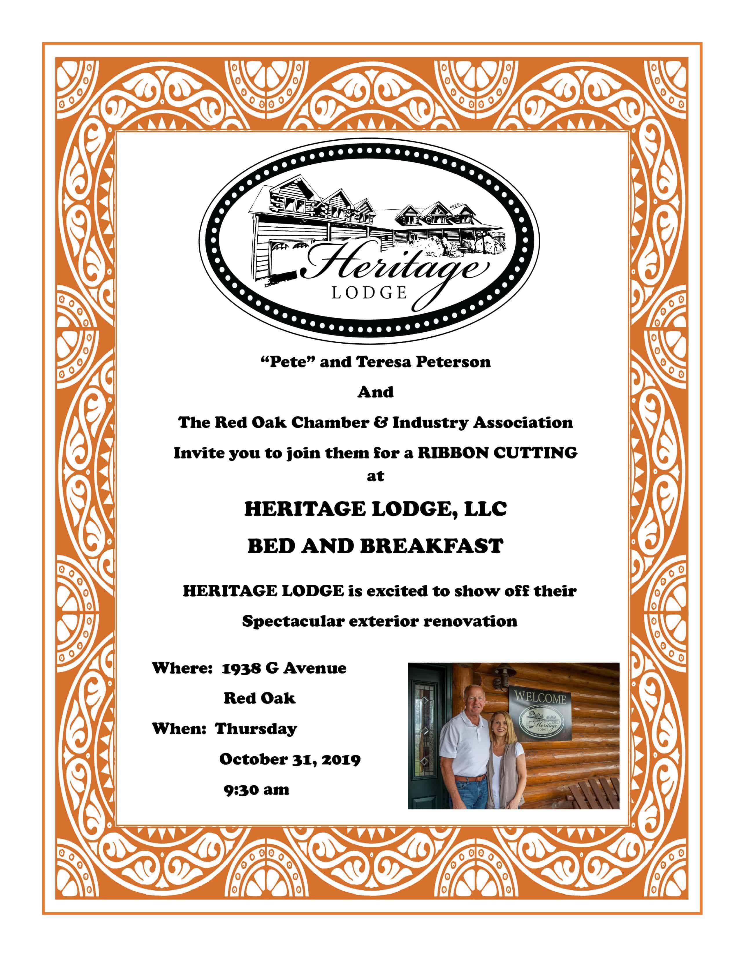 Heritage Lodge Ribbon Cutting