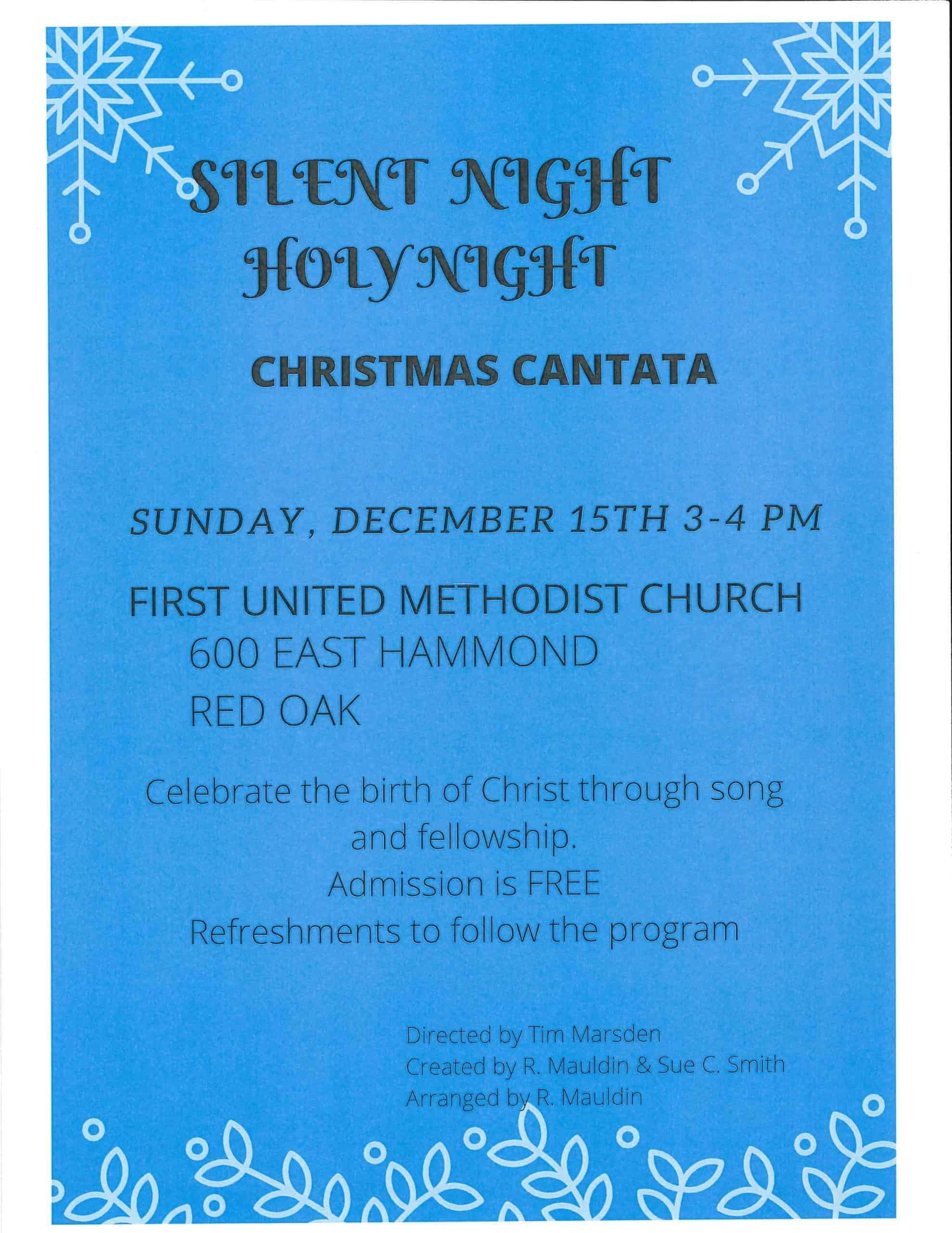 Silent Night Holy Night Christmas Cantata