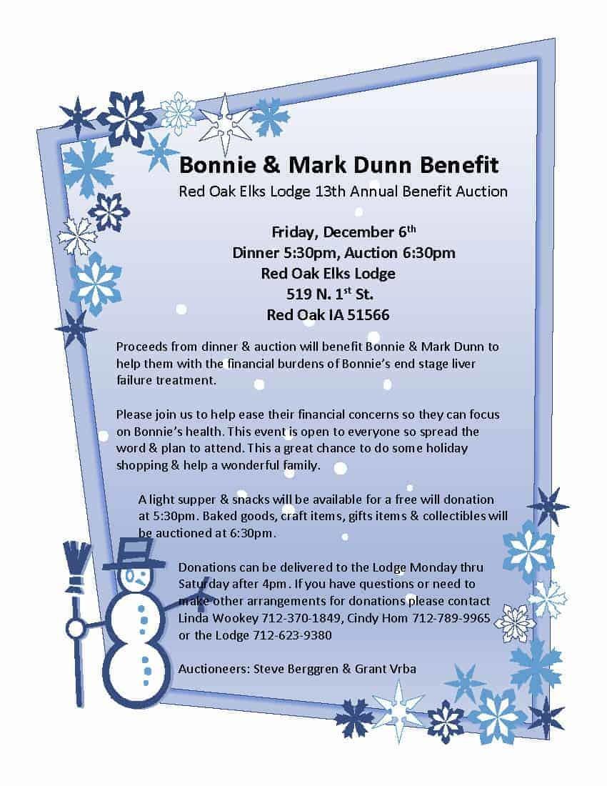 Bonnie and Mark Dunn Benefit