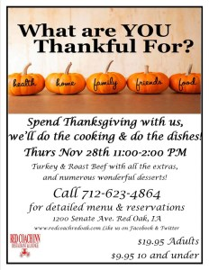 Thanksgiving at Red Coach