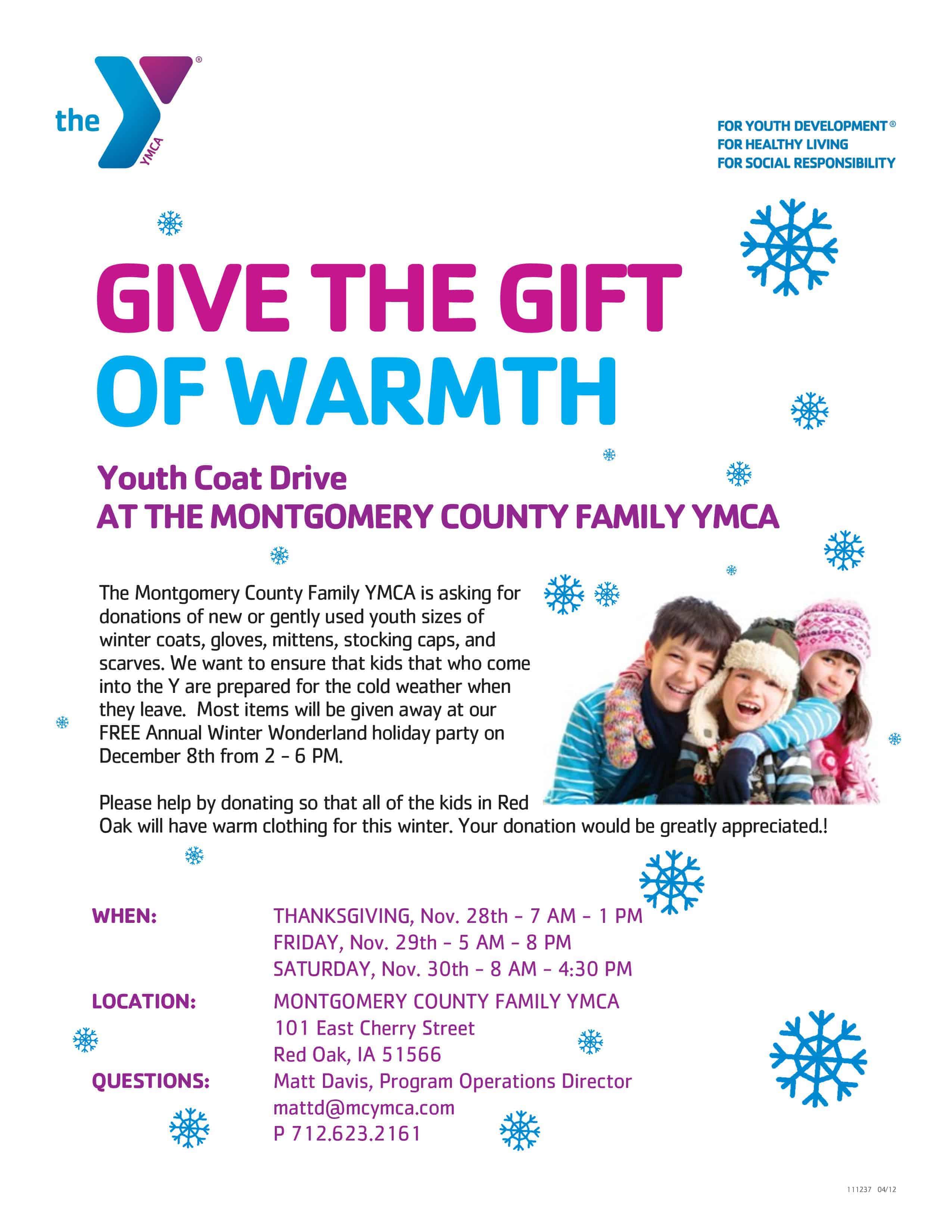 YMCA Youth Coat Drive