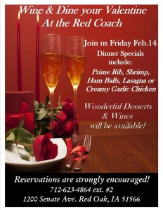 Wine & Dine At The Red Coach