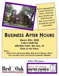 Business After Hours First Cong. Church