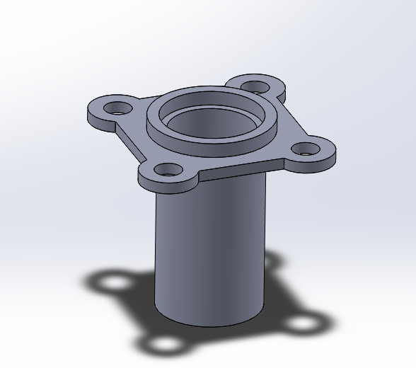3D model of the RX8 gearbox input bearing retainer