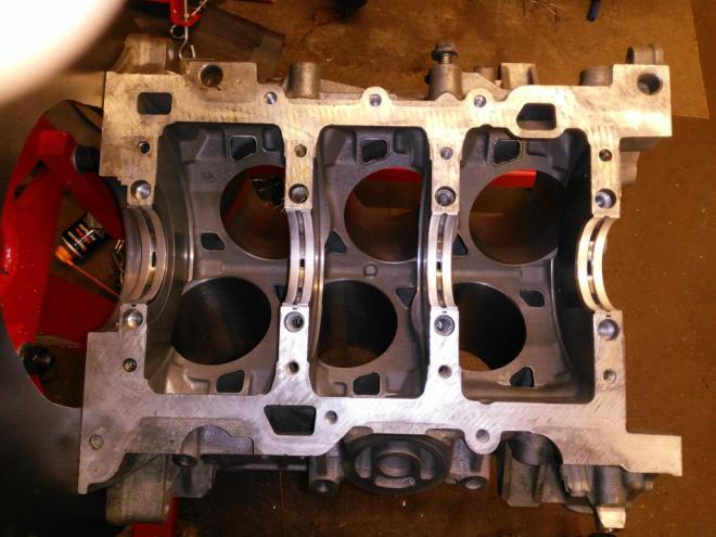 Crank bearing installation photo for S-type V6