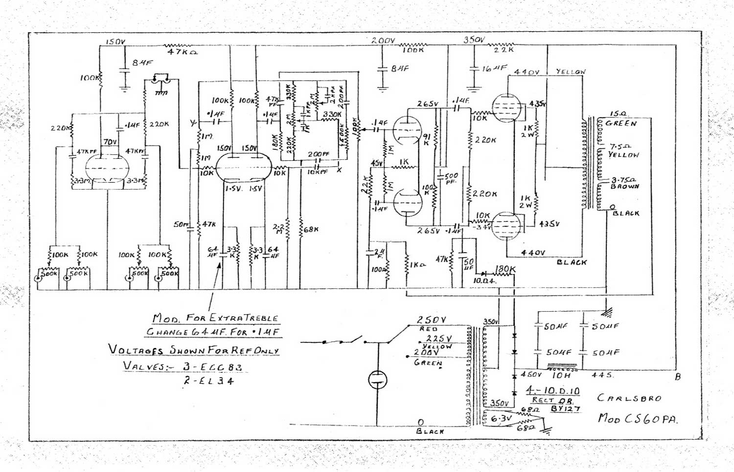 4 Tube Elkin Linear Amplifier Schematics