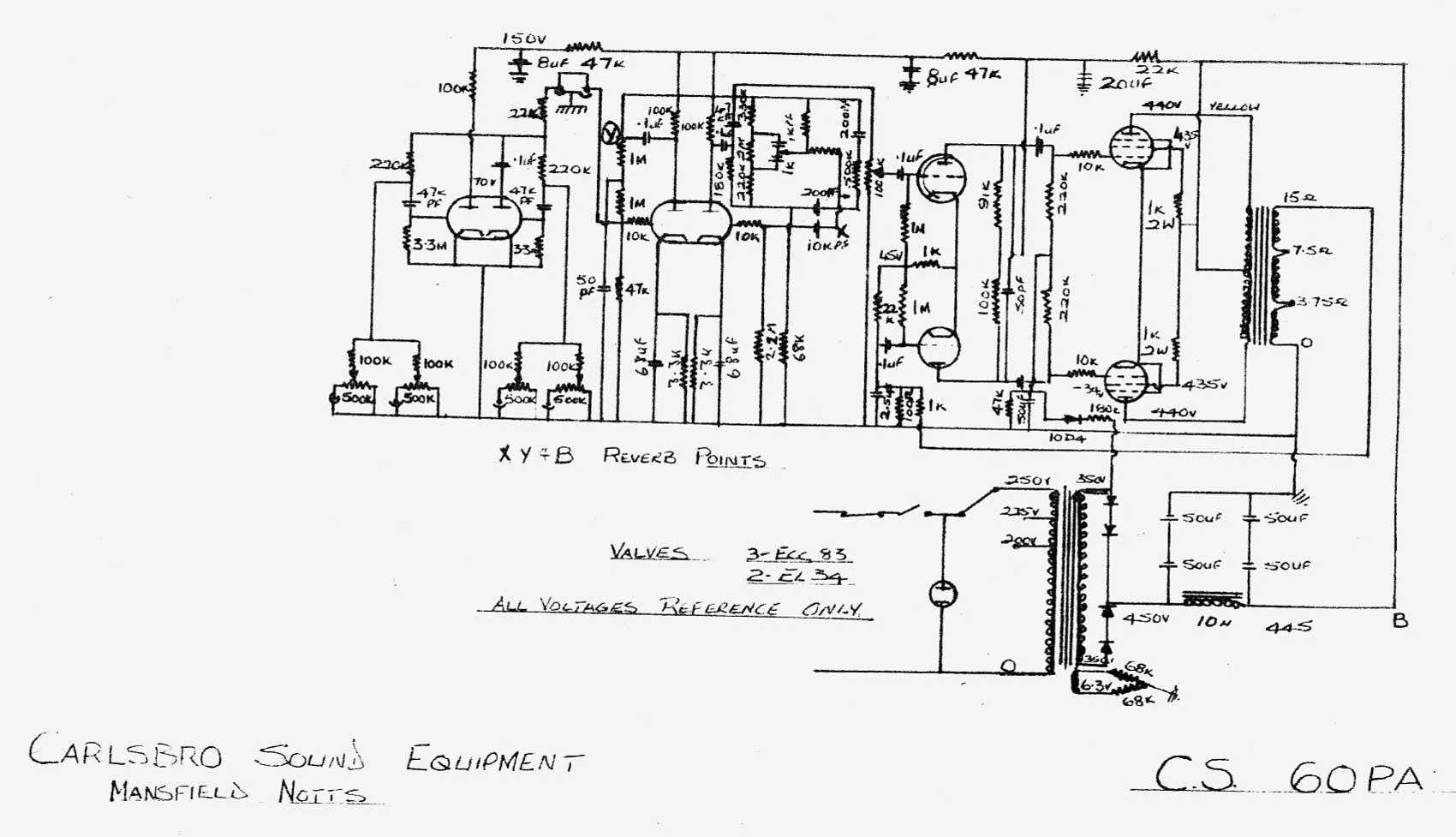 Carlsbro Cs60 P A Amp Schematic