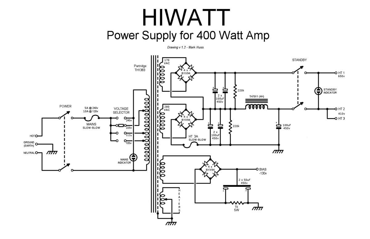 Scematic Machine Inside Diagram Power 400 Watt