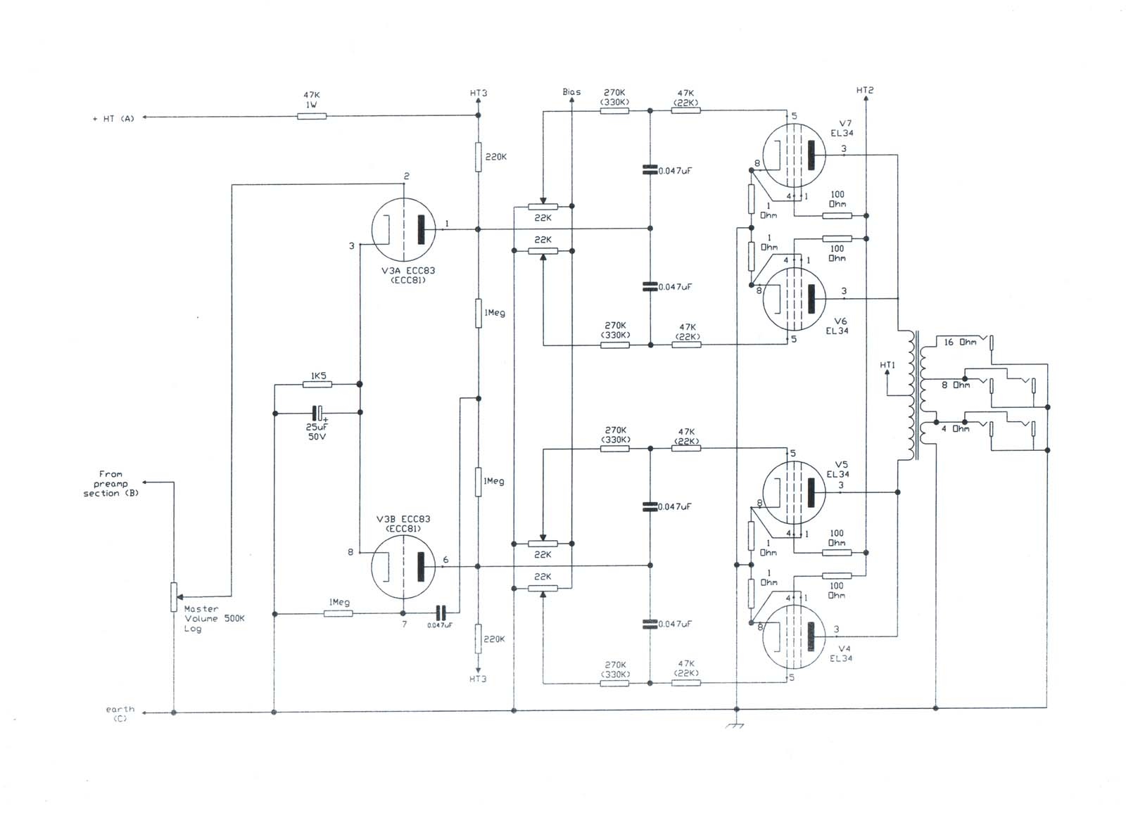 Vampower 100 Watt Mki Amplifier Schematic Diagrams