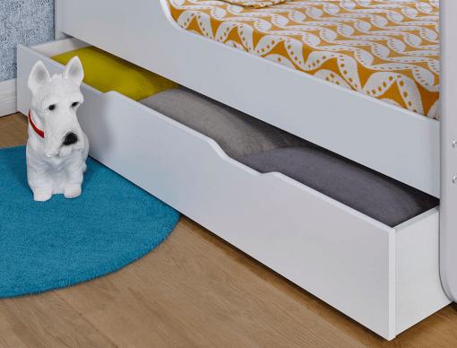 tiroir de rangement sous lit bebe madrid blanc