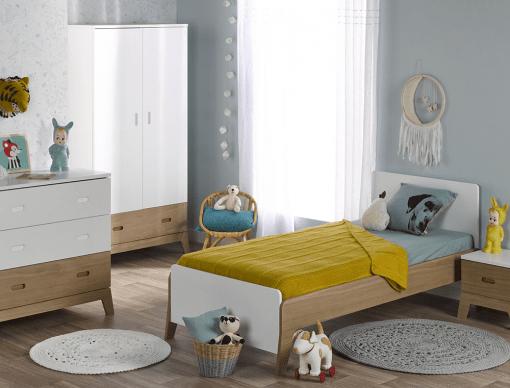 chambre enfant archipel blanc chene