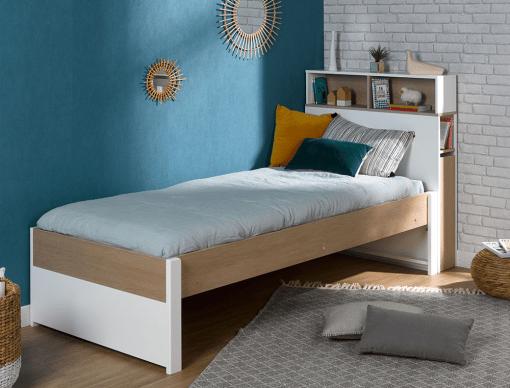 lit enfant sommier en pin tete de lit rehausse nomade