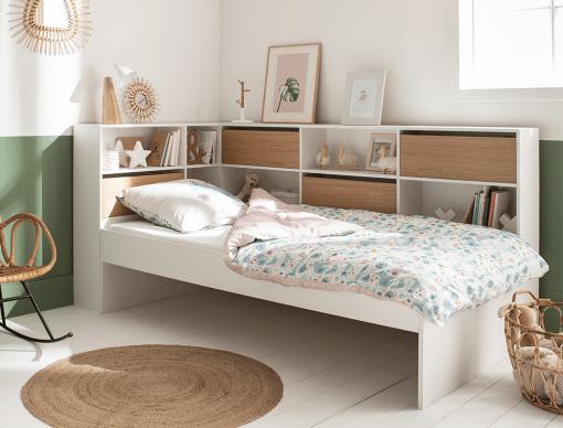 lit enfant avec rangements opus blanc bois