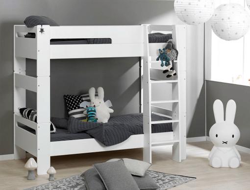 promo lit superpose enfant london blanc 90 190