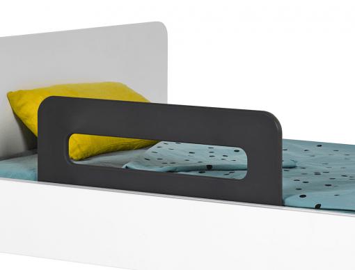 barriere de lit enfant anthracite bali 70 cm