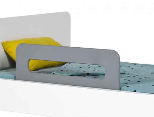 barriere de lit enfant gris flanelle bali 70 cm