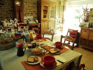 2017 petit déjeuner dans la maison familiale près des chambres