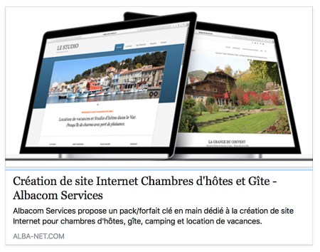 Conception de site Internet pour chambres d'hôtes