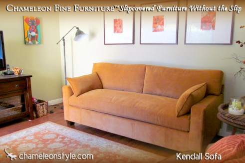 Kendall Sofa - Orange Microsuede