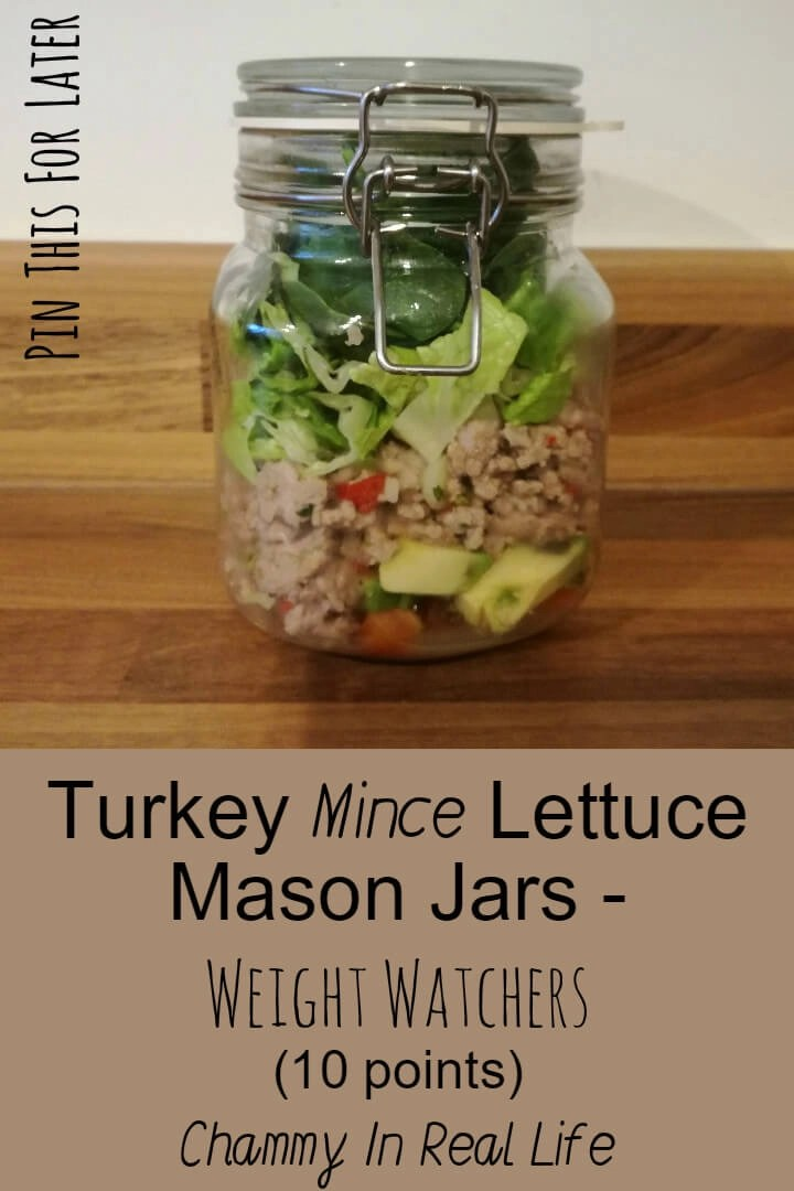 Turkey Mince Lettuce Mason Jars - Weight Watchers (10 ...