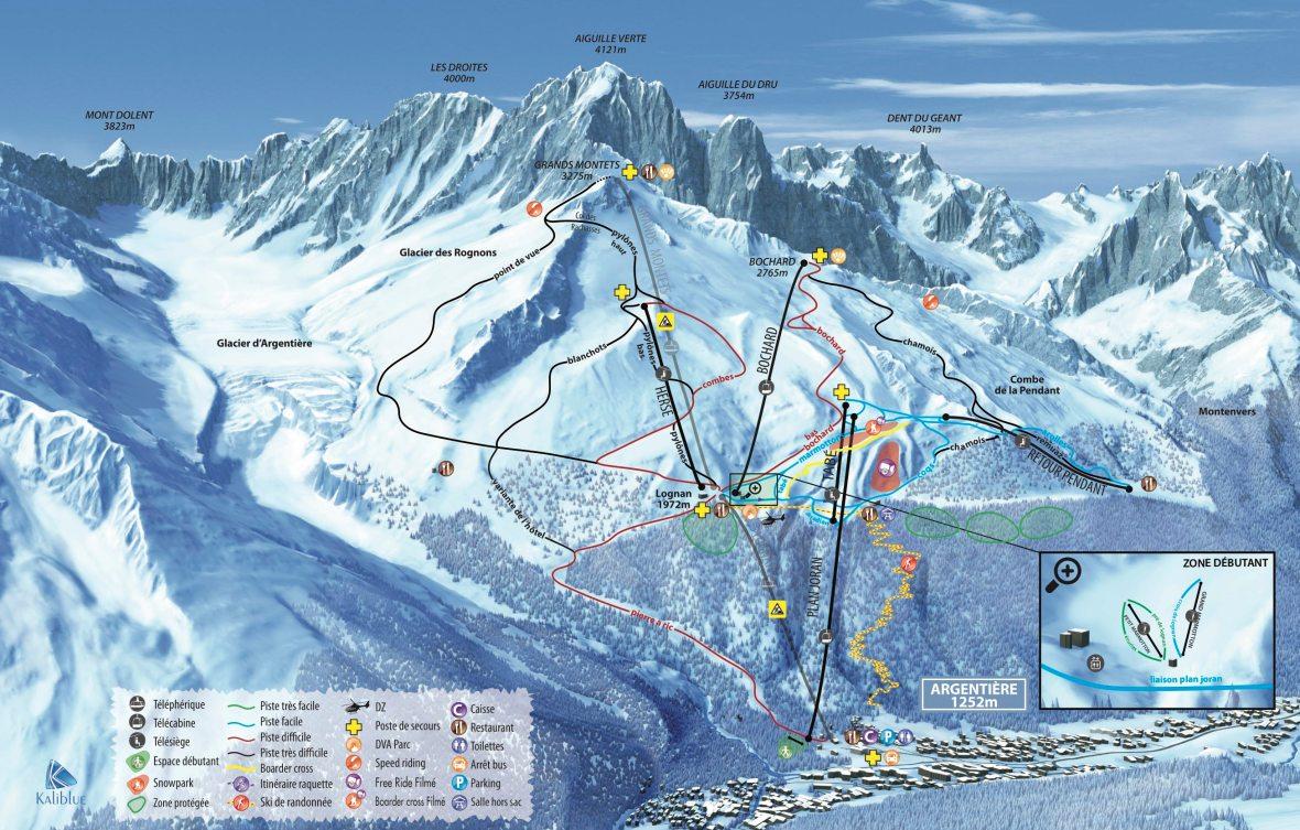 Chamonix Ski Map