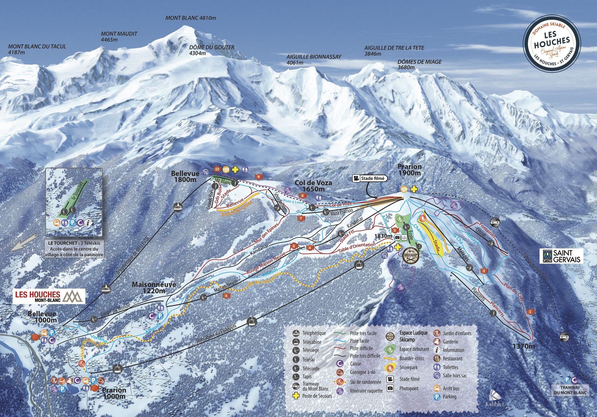 Les Houches Ski Map, luxury chalet chamonix exclusive