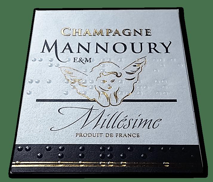 étiquette du Millésime Mannoury