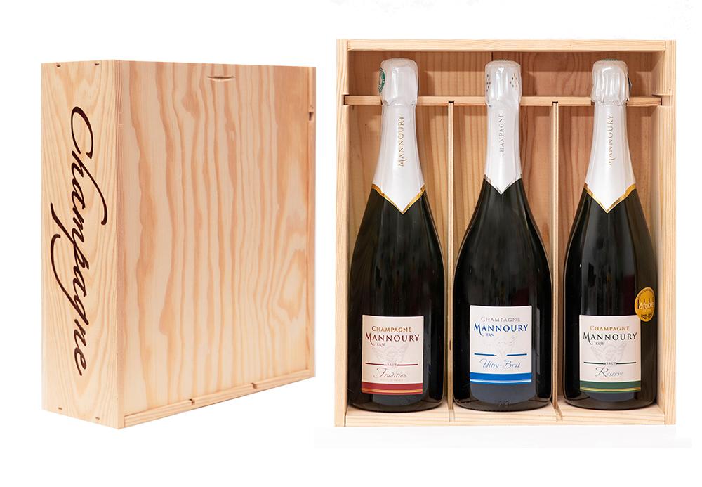 coffret 3 bouteilles tradition réserve ultra brut