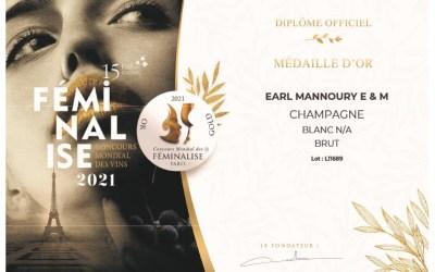 Médaille d'Or au concours des Féminalise
