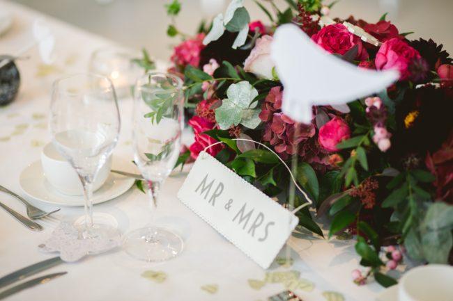 Statement Wedding Stationery with Purple Trail