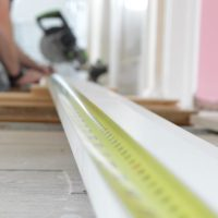 Fitting skirting boards to our house!
