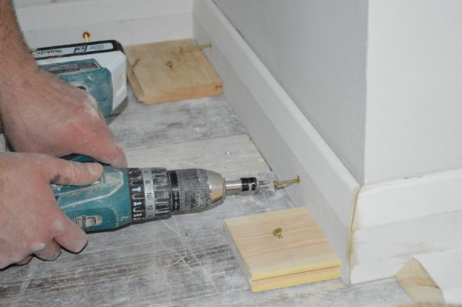 attaching skirting boards