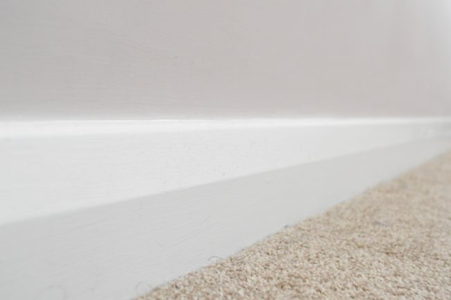 finished skirting boards