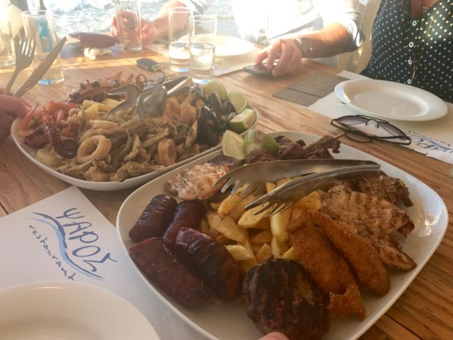 meat and fish platter