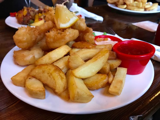 Food at the Lion and Key