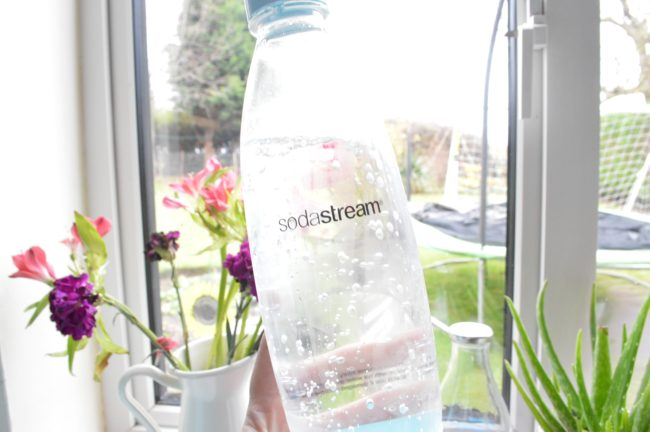 sodastream bottle with bubbles