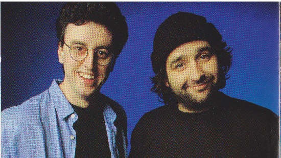 Mick Molloy (R) and Tony Martin (L)