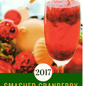 Smashed Cranberry Holiday Champagne