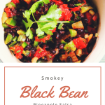 Smokey Black Bean Pineapple Salsa