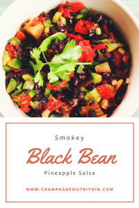 Smokey Black Bean Pineapple Salsa