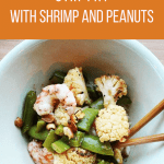 Spicy Cauliflower Stir-fry with Shrimp and Peanuts