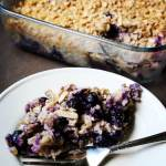 Easiest Blueberry Coconut Oatmeal Bake