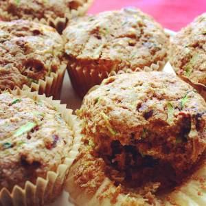 Cranberry Zucchini Morning Muffins