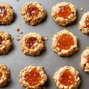 Vegan Gem Thumbprint Cookies
