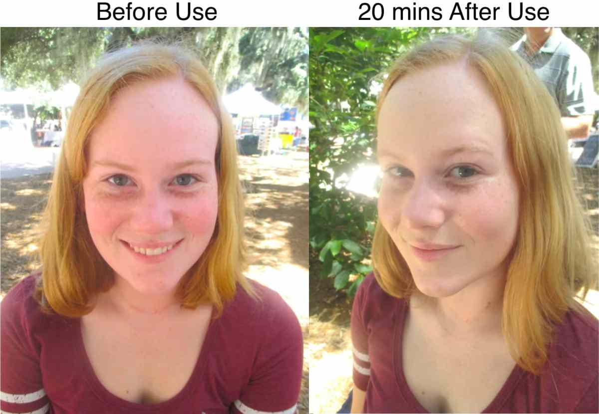 Multifunctional Skin Saver results 20 minutes